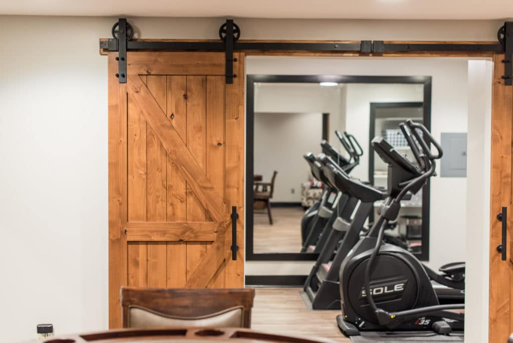 basement home gym redesign Fortville IN