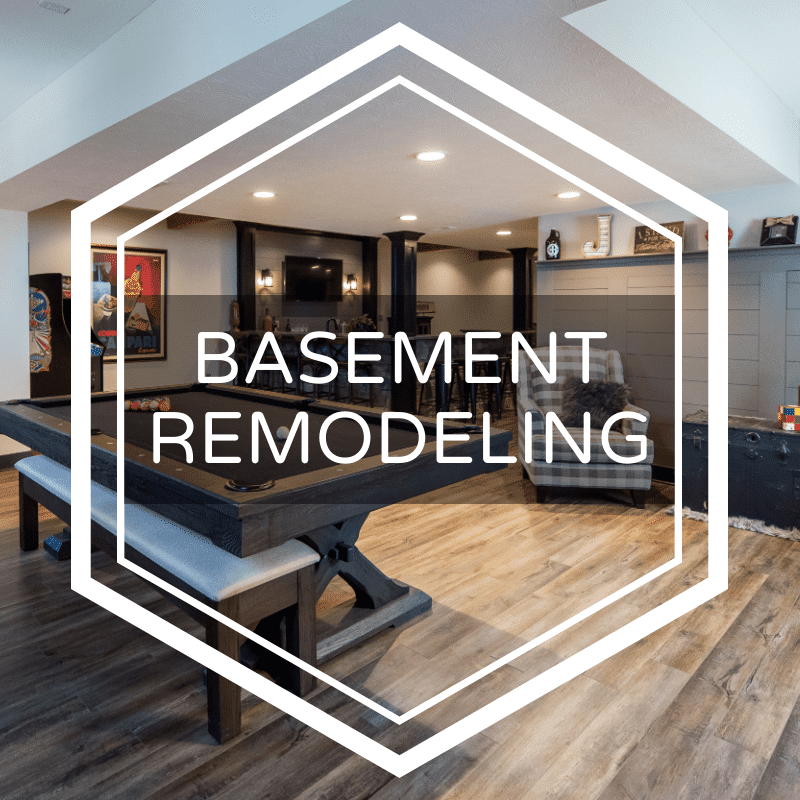 Nicholas Design Build basement finishing in Indianapolis area