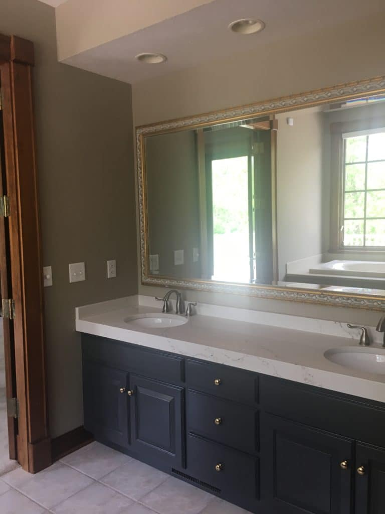 Fishers IN bathroom remodel before and after