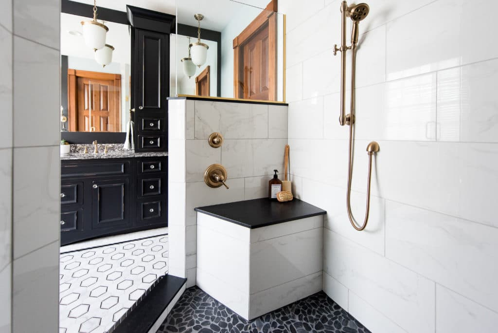 bathroom before and after remodel